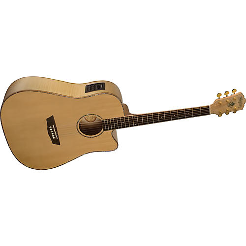 washburn wd45sce solid sitka spruce top acoustic cutaway electric dreadnought flame maple guitar. Black Bedroom Furniture Sets. Home Design Ideas