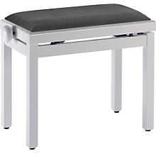 Stagg WHITE BENCH HIGH GLOSS+BLACK VELVET TOP