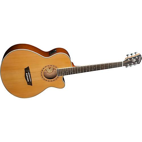 washburn wmj 11sce cedar top mini jumbo cutaway acoustic electric guitar musician 39 s friend. Black Bedroom Furniture Sets. Home Design Ideas