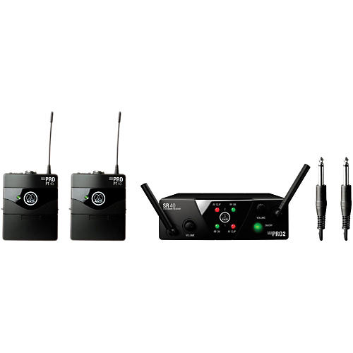 AKG WMS 40 Mini2 Instrument Wireless Microphone Set with D8000M Handheld