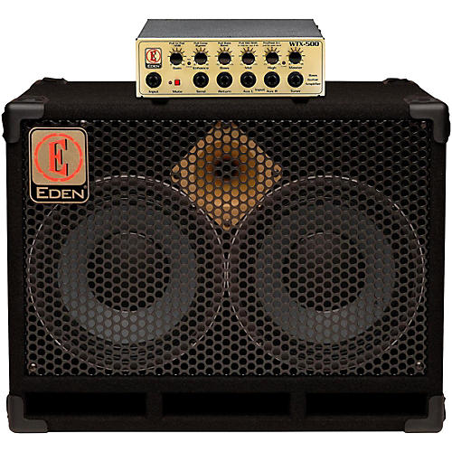 Eden WTX500 Bass Amp Head Gold with D210XST 2x10 Cab 4 ohm