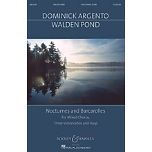 Boosey and Hawkes Walden Pond (Nocturnes and Barcarolles Mixed Chorus, Three Violoncellos, Harp) SATB by Dominick Argento