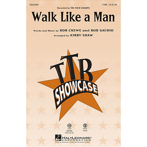 Hal Leonard Walk Like a Man (from Jersey Boys) TTBB by The Four Seasons arranged by Kirby Shaw