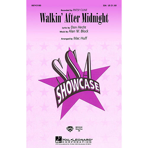 Hal Leonard Walkin' After Midnight ShowTrax CD by Patsy Cline Arranged by Mac Huff