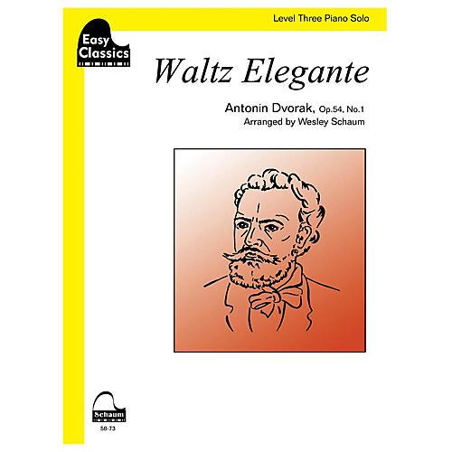 SCHAUM Waltz Elegante Educational Piano Series Softcover