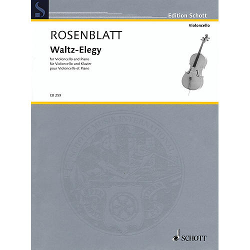 Schott Waltz-Elegy (Cello and Piano) String Series Softcover