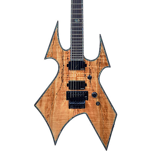 B.C. Rich Warbeast Extreme Exotic with Floyd Rose Electric Guitar Spalted Maple