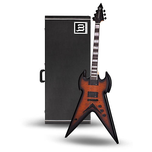 wylde audio warhammer electric guitar with wylde audio hardshell wood case musician 39 s friend. Black Bedroom Furniture Sets. Home Design Ideas