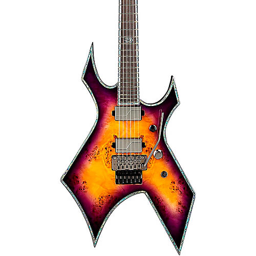 B.C. Rich Warlock Extreme Exotic with Floyd Rose Electric Guitar Purple Haze