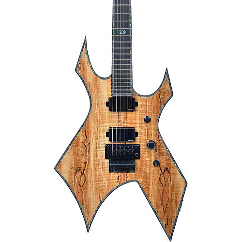 B.C. Rich Warlock Extreme Exotic with Floyd Rose Electric Guitar Spalted Maple