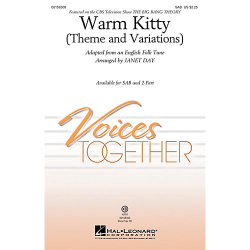 Hal Leonard Warm Kitty (Theme and Variations) SAB arranged by Janet Day