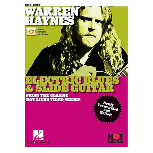 Hal Leonard Warren Haynes - Electric Blues & Slide Guitar From the Classic Hot Licks Video Series Book/Video Online