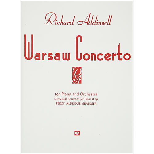 Hal Leonard Warsaw Concerto Piano Orchestra Duet Two Pianos Four Hands