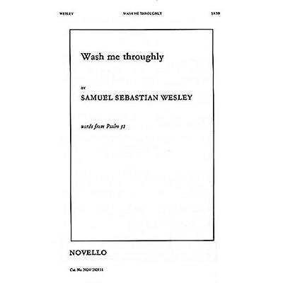 Novello Wash Me Throughly SATB, Organ Composed by Samuel Sebastian Wesley
