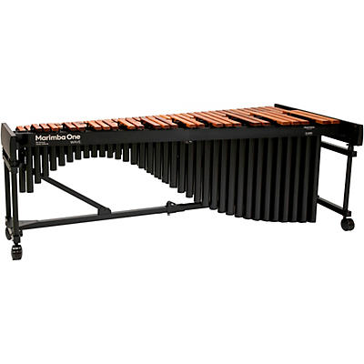 "Marimba One Wave #9601 A442 5.0 Octave Marimba with Traditional Keyboard and Classic Resonators 4""casters"