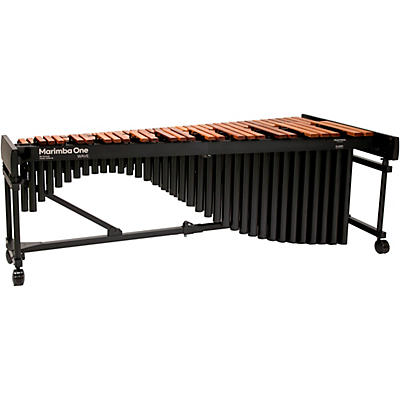 "Marimba One Wave #9602 A442 5.0 Octave Marimba with Enhanced Keyboard and Classic Resonators 4""casters"