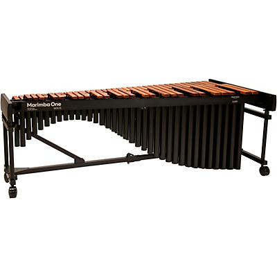 "Marimba One Wave #9606 A442 5.0 Octave Marimba with Premium Keyboard and Basso Bravo Resonators 4""casters"