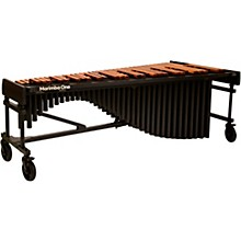 """Marimba One Wave #9611 A440 5.0 Octave Marimba with Traditional Keyboard and Classic Resonators 8""""casters and Accessory Bar"""