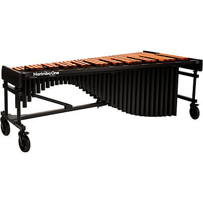 "Marimba One Wave #9612 A442  5.0 Octave Marimba with Enhanced Keyboard and Classic Resonators 8""casters and Accessory Bar"