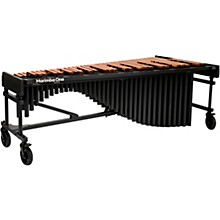 """Marimba One Wave #9613 A440 5.0 Octave Marimba with Premium Keyboard and Classic Resonators 8""""casters and Accessory Bar"""