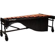 """Marimba One Wave #9614 A440 5.0 Octave Marimba with Traditional Keyboard and Basso Bravo Resonators 8""""casters and Accessory Bar"""