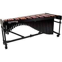 """Marimba One Wave #9621 A440 4.3 Octave Marimba with Traditional Keyboard and Classic Resonators 4""""casters"""