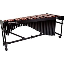 "Marimba One Wave #9621 A442 4.3 Octave Marimba with Traditional Keyboard and Classic Resonators 4""casters"