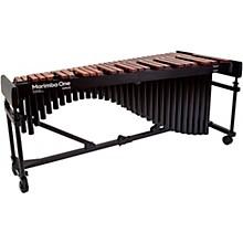 "Marimba One Wave #9622 A440 4.3 Octave Marimba with Enhanced Keyboard and Classic Resonators 4""casters"