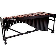 "Marimba One Wave #9623 A442 4.3 Octave Marimba with Premium Keyboard and Classic Resonators 4""casters"