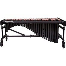"""Marimba One Wave #9631 A440 4.3 Octave Marimba with Traditional Keyboard and Classic Resonators 8"""" casters and accessory bar"""