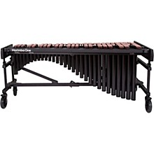 """Marimba One Wave #9633 A440 4.3 Octave Marimba with Premium Keyboard and Classic Resonators 8""""casters and accessory bar"""