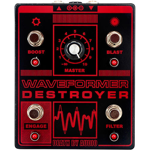Death By Audio Waveformer Destroyer Multi-channel Fuzz Effects Pedal Black and Red