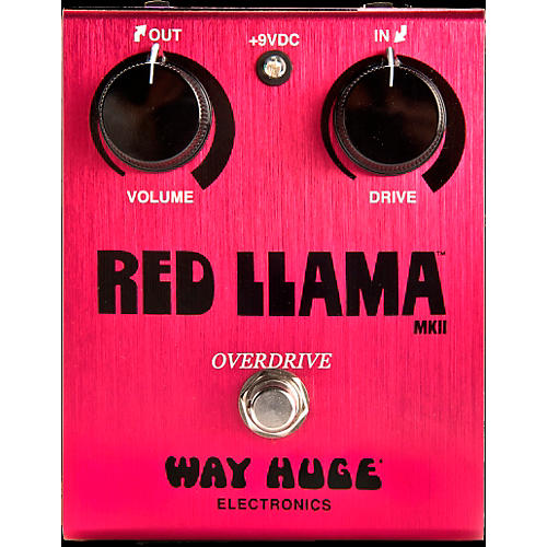 Dunlop Way Huge Red Llama Overdrive Guitar Effects Pedal
