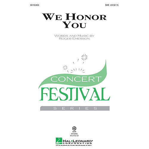 Hal Leonard We Honor You SAB composed by Roger Emerson