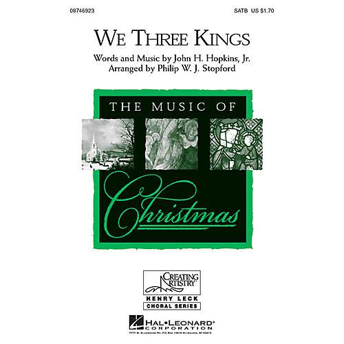 Hal Leonard We Three Kings SATB arranged by Philip Stopford