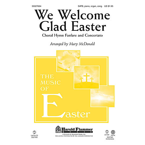 Shawnee Press We Welcome Glad Easter (Choral Hymn Fanfare and Concertato) BRASS/HANDBELL ACCOMP by Mary McDonald