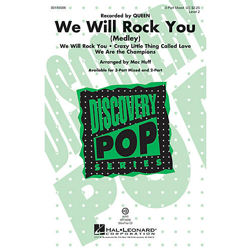 Hal Leonard We Will Rock You 3-Part Mixed by Queen arranged by Mac Huff