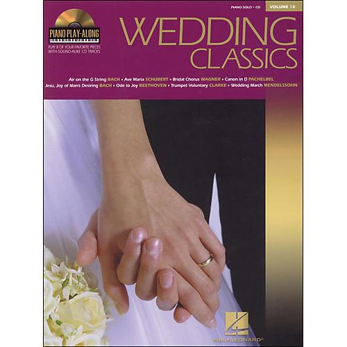 Hal Leonard Wedding Classics Book/CD Volume 10 Piano Play Along arranged for piano, vocal, and guitar (P/V/G)