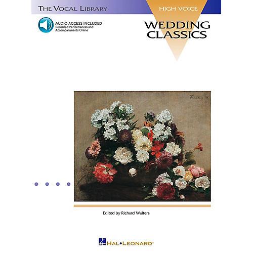 Hal Leonard Wedding Classics for High Voice Book/CD