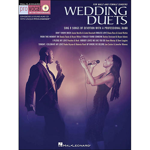 Hal Leonard Wedding Duets for Male & Female Singers Book/CD Volume 1