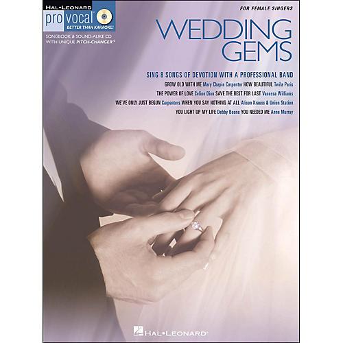 Hal Leonard Wedding Gems - Pro Vocal Series for Female Singers Book/CD Volume 8