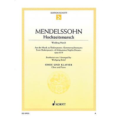 Schott Wedding March - Op 61, No 9 from A Midsummer Night's Dream Schott Book by Felix Mendelssohn Bartholdy