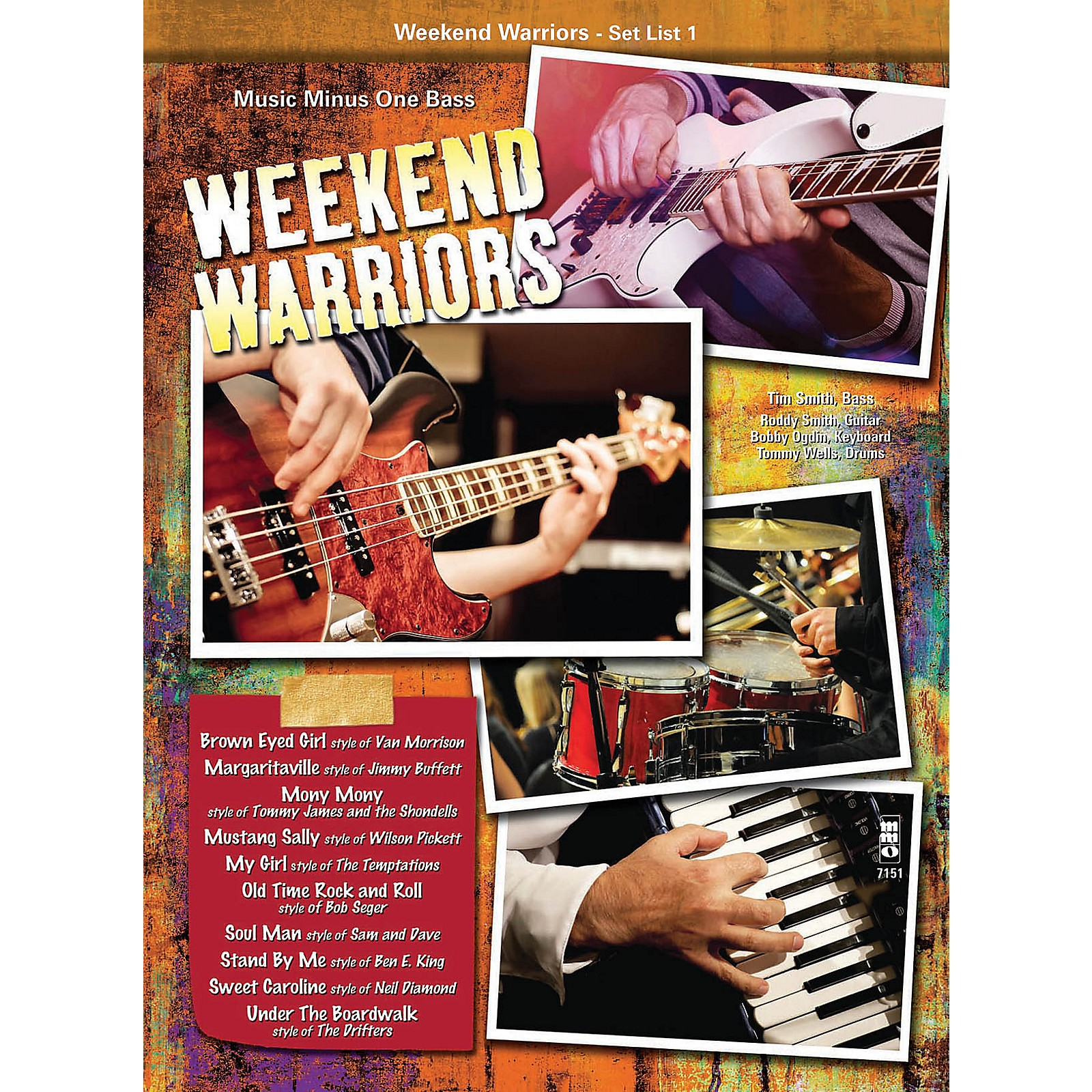 Music Minus One Weekend Warriors - Set List 1, Bass Music Minus One Series Softcover with CD Performed by Various
