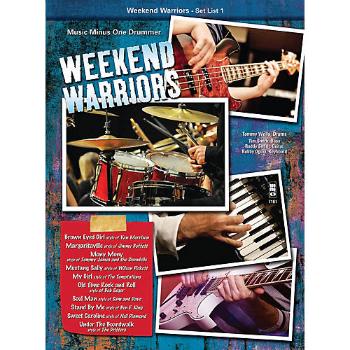 Music Minus One Weekend Warriors - Set List 1, Drums Music Minus One Series Softcover with CD Performed by Various