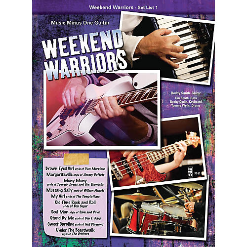 Music Minus One Weekend Warriors - Set List 1, Guitar Music Minus One Series Softcover with CD Performed by Various