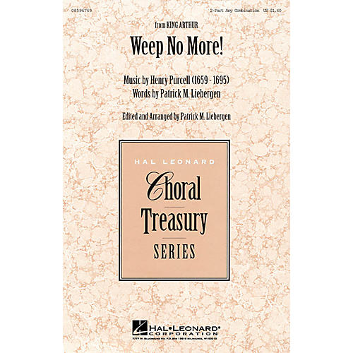 Hal Leonard Weep No More! 2-Part any combination