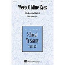 Hal Leonard Weep, O Mine Eyes SATB a cappella composed by John Bennet