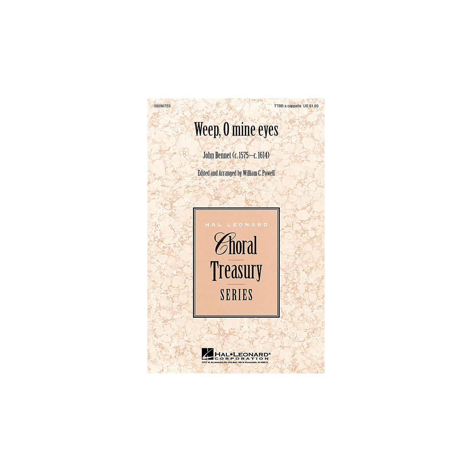 Hal Leonard Weep, O Mine Eyes TTBB A Cappella arranged by William Powell