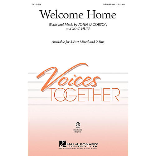 Hal Leonard Welcome Home 2-Part Composed by John Jacobson