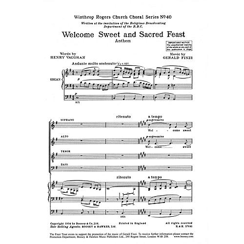 Boosey and Hawkes Welcome Sweet and Sacred Feast (SATB divisi with Organ) SATB Divisi composed by Gerald Finzi